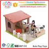 EN71 Conforms Wonderful Wooden Farm Set Kids Role Play Toys