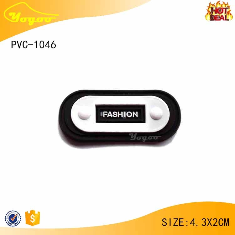 Personalized 3D rubber label , PVC tag for garment / hat with favorable price