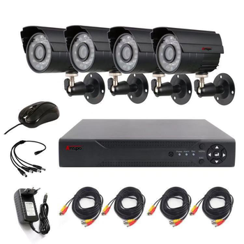1080P CCTV DVR Camera Kits 4 Channel DVR KIT waterproof indoor