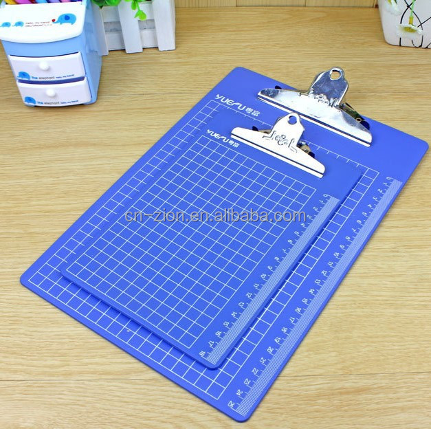 A4 size Office Supplies Display Clip Writing Board/plastic clipboard