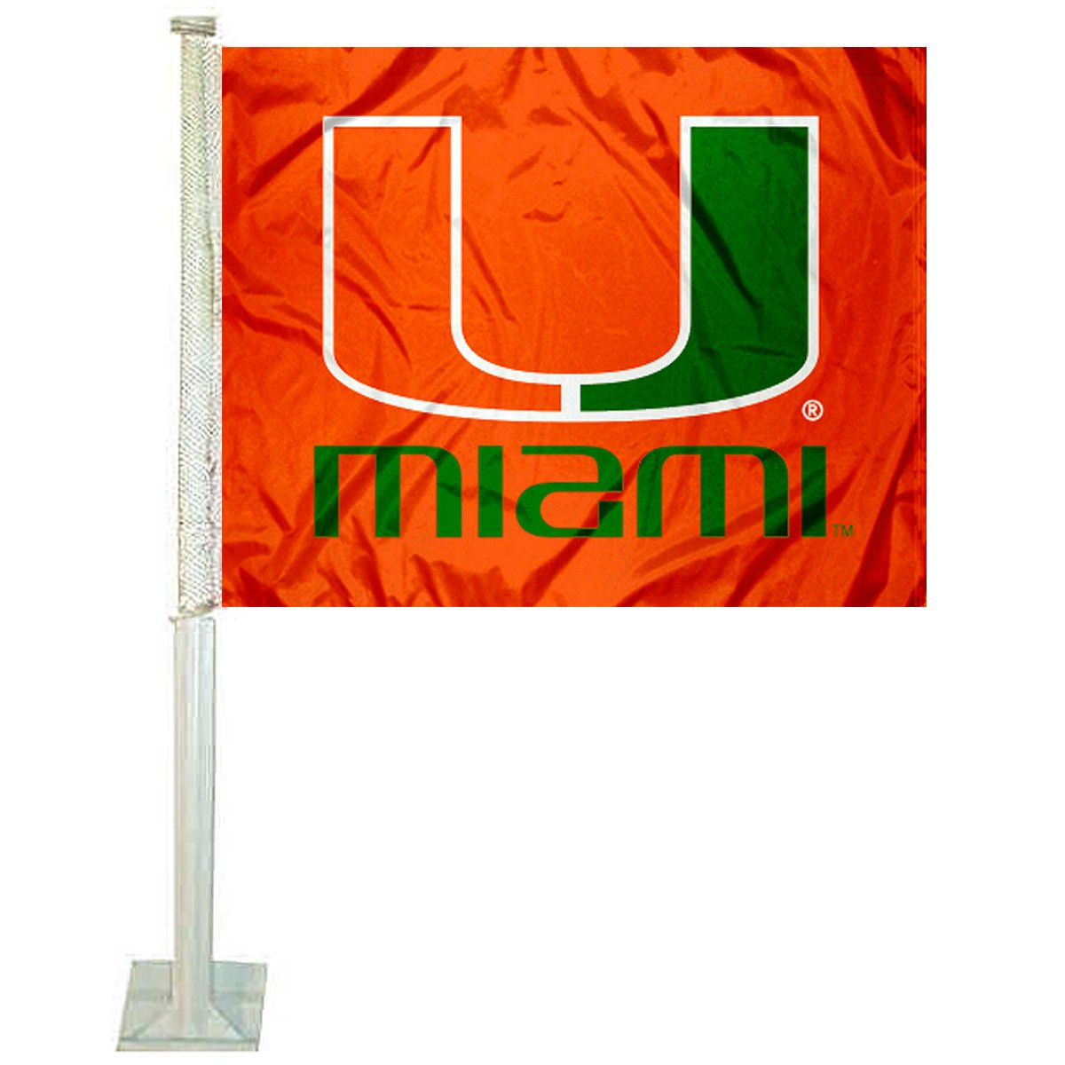 Miami Hurricanes Car Flag