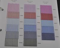 top quality 100% cotton LA finished different kinds of stripe shirting fabric