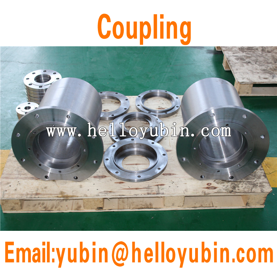 ISO9001 cnc machining stainless steel shaft couplings for pipe with KF type