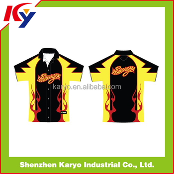 190a7f415 Wholesale Custom Sublimation Motorcycle Pit Crew Polo Shirts - Buy ...