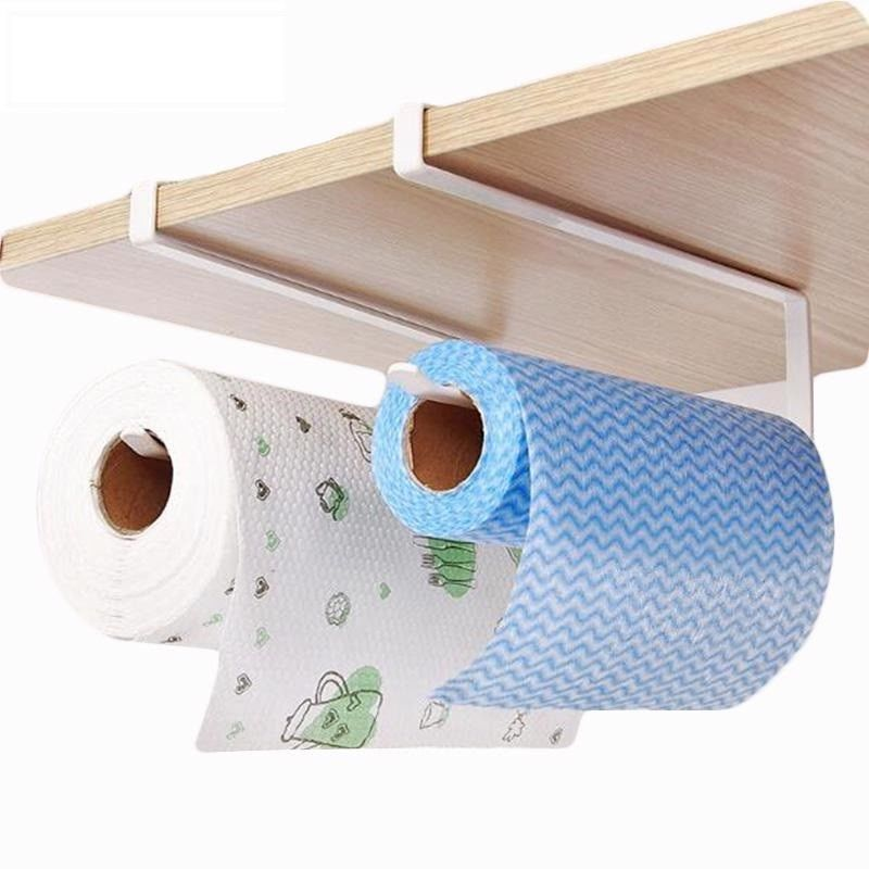 Paper Holders New Arrivial Kitchen Towel Holder Roll Paper Storage Rack Tissue Hanger Under Cabinet Door Ample Supply And Prompt Delivery