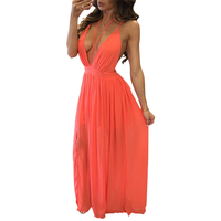 Hot sell summer long women sexy young girl beach maxi dress