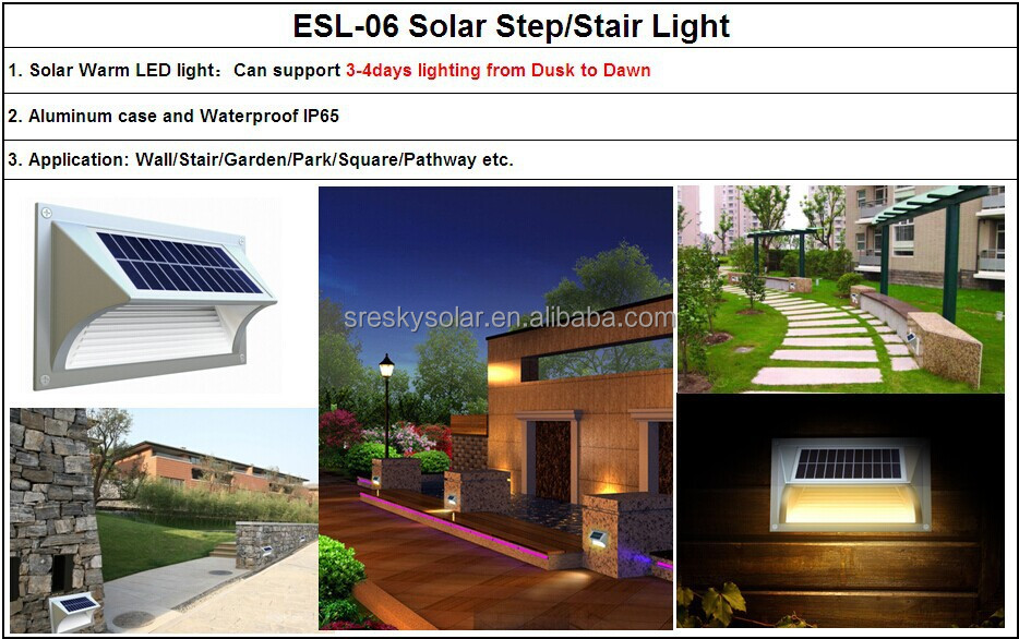 Ip65 Cheap Solar Products For House Solar Step Light