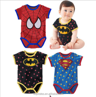 China import new fashion wholesale 100% organic cotton o-neck summer cartoon printing newborn baby boy jumpsuit romper clothes