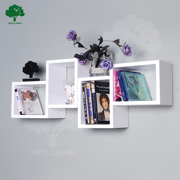 Exceptionnel Wooden Wall Cube Shelf For Wall Decor N