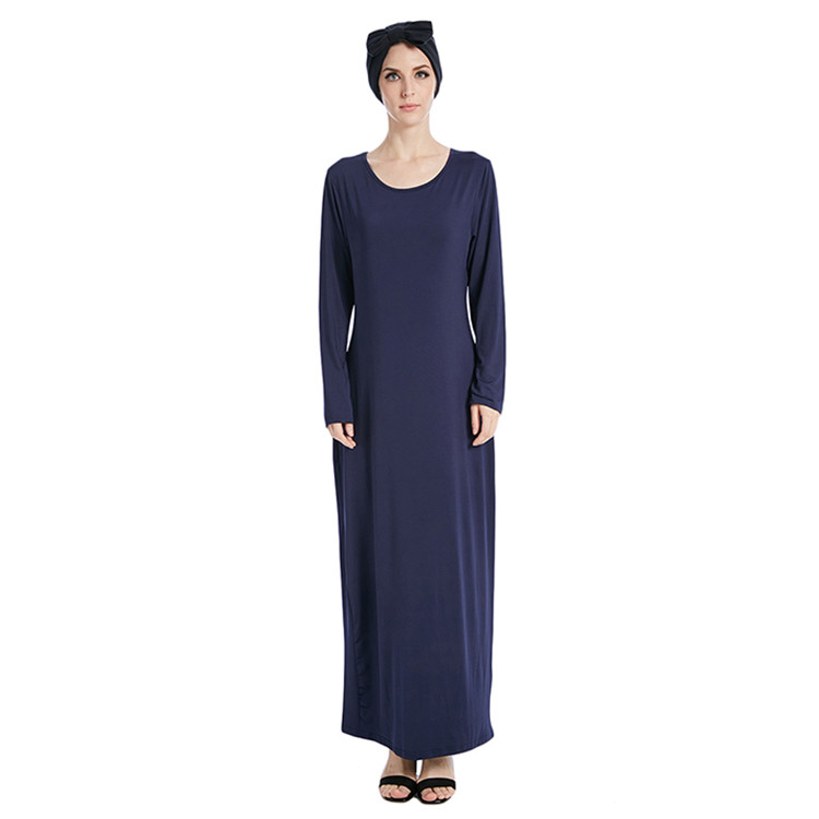 Best selling high quality cotton and spandex muslim women bottom abaya inner dress