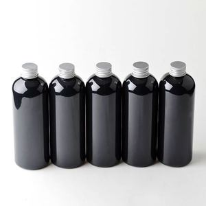 100ml 150ml 200ml 300ml 500ml Wholesale Black Plastic PET Toner Bottle With Screw Cap