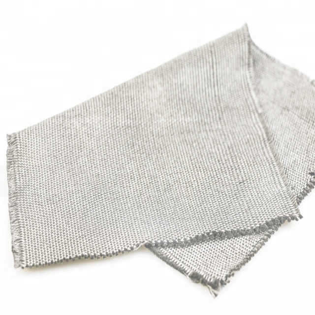 Stainless steel fiber 316L metallic woven knitted fabric
