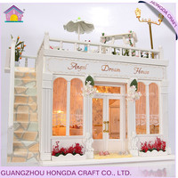 Home DIY with light and furniture miniature dollhouse small cute house plans