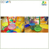Optional nylon rope hand knitted colorful leaf in kids indoor crochet playground project