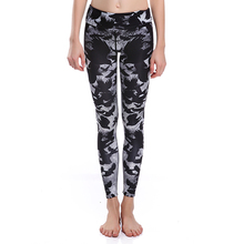 Fashion Womens Retro Patroon Gedrukt Knielengte <span class=keywords><strong>Leggings</strong></span>