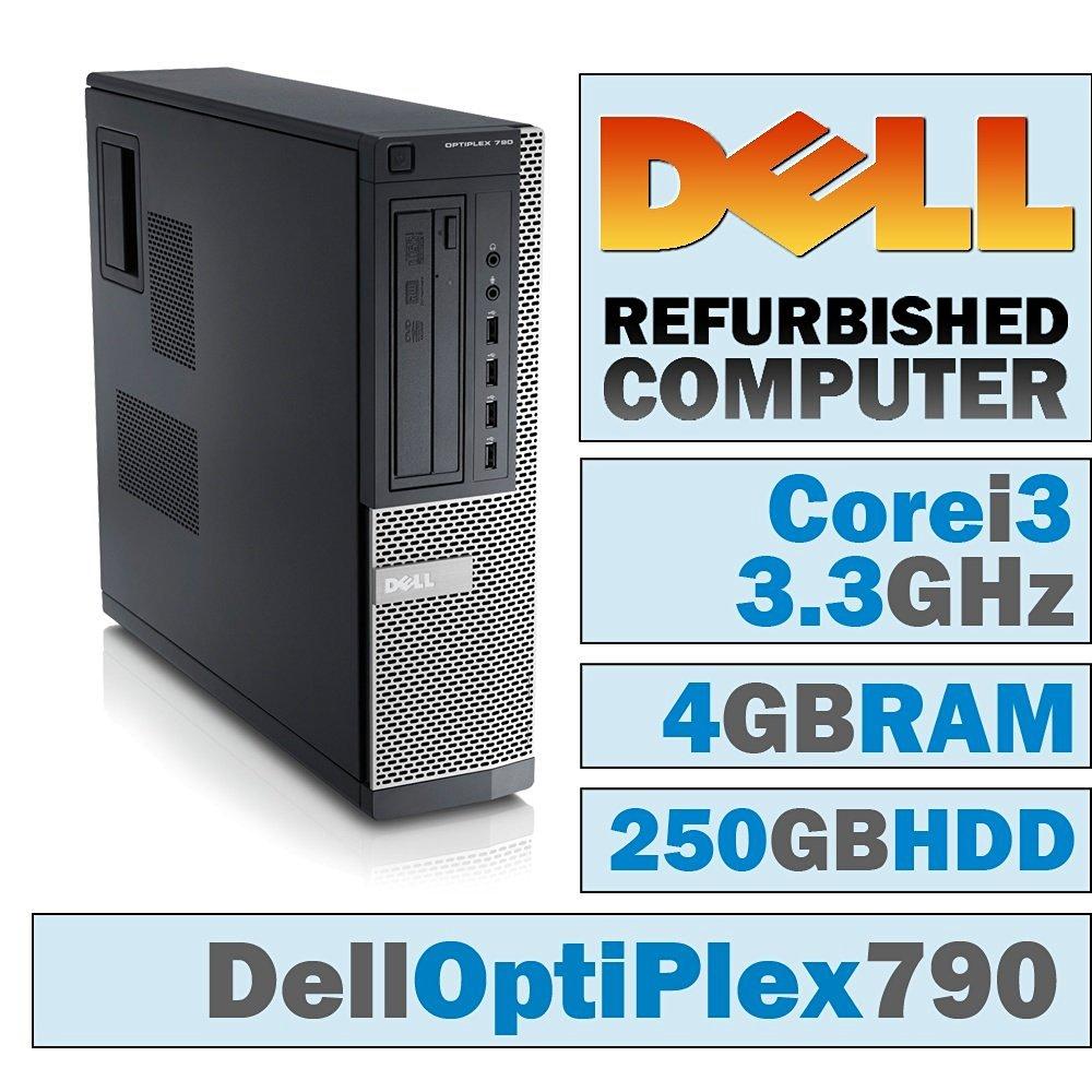 Dell OptiPlex 790 DT/Core i3-2120 @ 3.3 GHz/4GB DDR3/250GB HDD/DVD-RW/WINDOWS 7 PRO 64 BIT