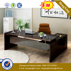 L-Shape Fashion Office Table with Back Cabinet (HX-6M214)