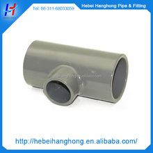 2015 new Plastic injection Round pvc pipe reducing tee