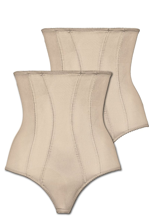 Naturana Women's Pack of 2 High Waist Panty Girdle 0061