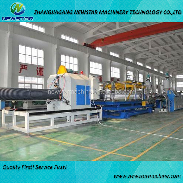 Corrugated pipe extrusion machine hose pipe extruder plastic pipe making machine