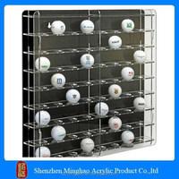 Clear acrylic ball/ baseball display case, acrylic golf ball display case