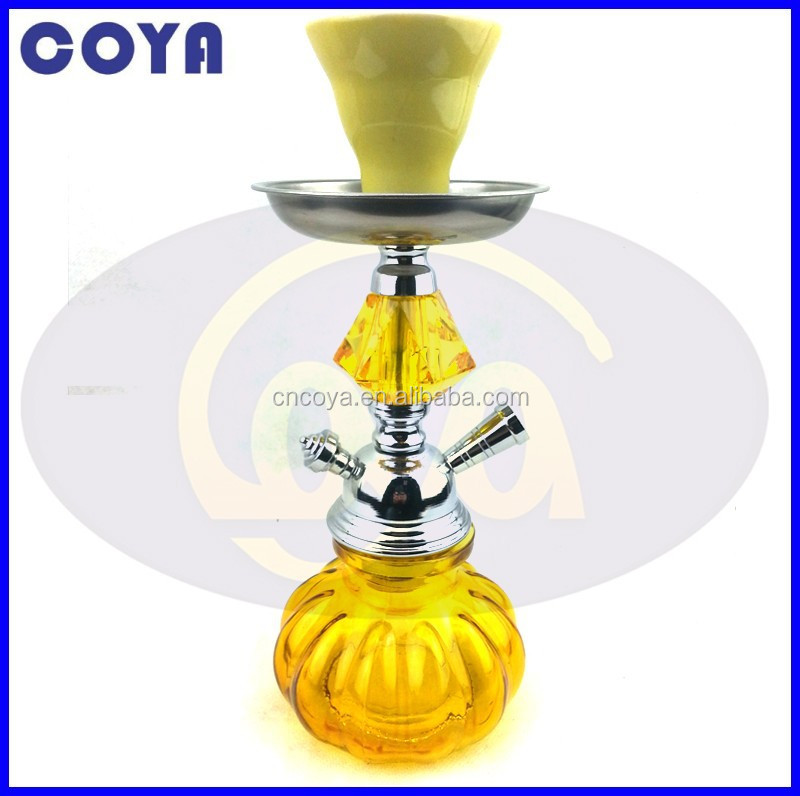 China wholesale electronic shisha small yellow hookah CS-084