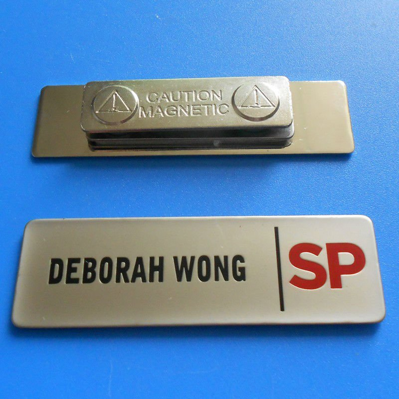 metal name tag buy name badge promotional name label name plate