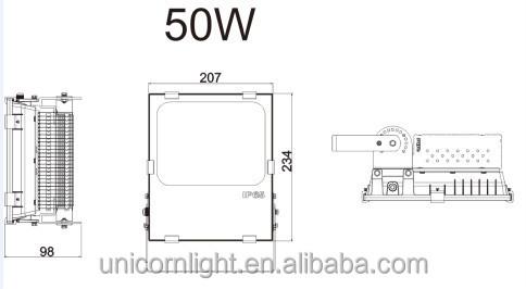 Outdoor Stadium Led Lighting Lamp 4500 Lumens 50w Projector ...
