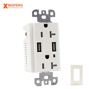 20A power socket with usb charger 115*70mm usb plug socket wall current 3.1A or 4.2A