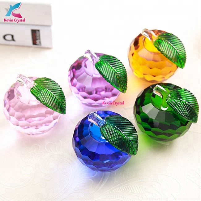 Colorful Wedding Event Gift Unique Design Crystal Glass Apple Buy