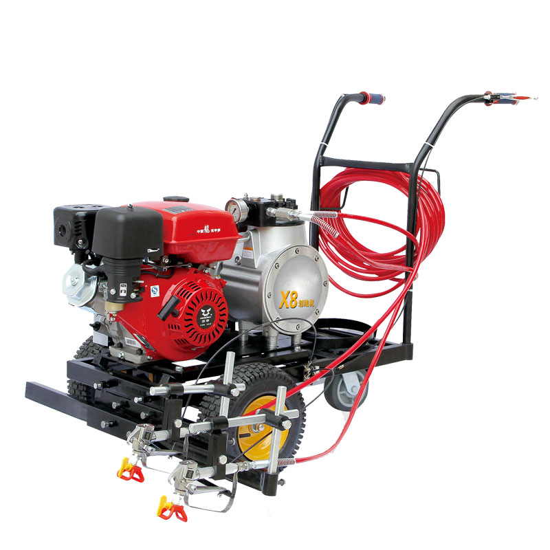 6.8HP cold paint spray road marking machine