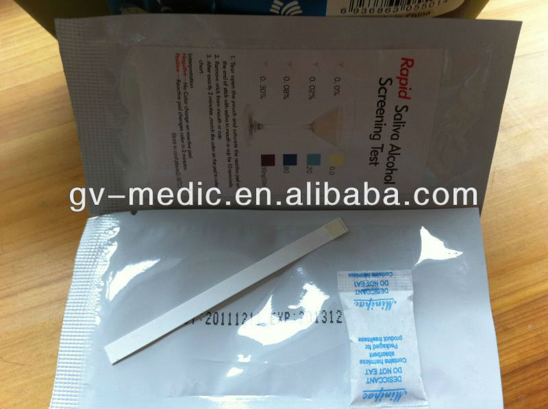 alcohol tester,disposable saliva alcohol tester, rapid alcohol tester strip