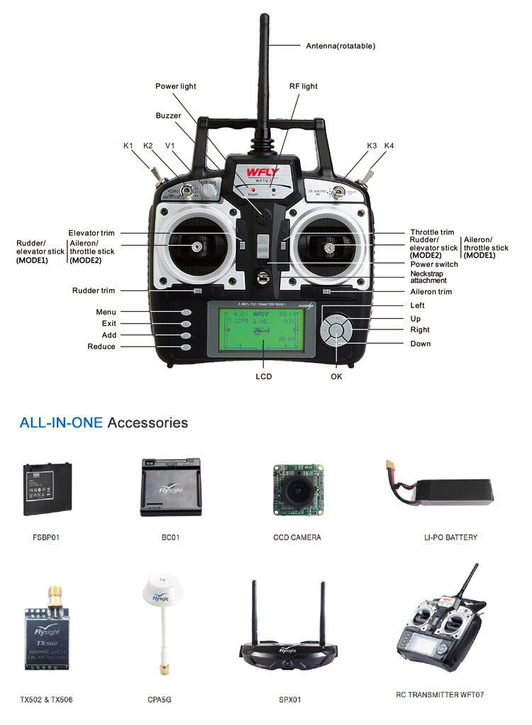 G2423 Flysight Speedy F250 RTF race copter racing drone with APM ,CC3D,Naze 32 flight controller,FPV goggles, Camera,backbag
