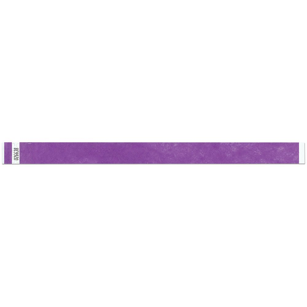 3/4 Inch Tyvek Tytan-Band® Wristbands - Economical Comfortable Tear Resistant - Purple - 500 Pieces Per Box