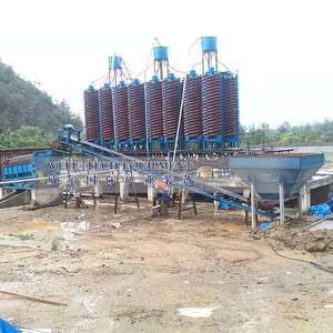 Minerals processing gold chrome ore washing plant spiral chute