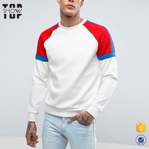 TopShow garment factory raglan crew neck sweatshirt men multi colored hooded sweatshirts