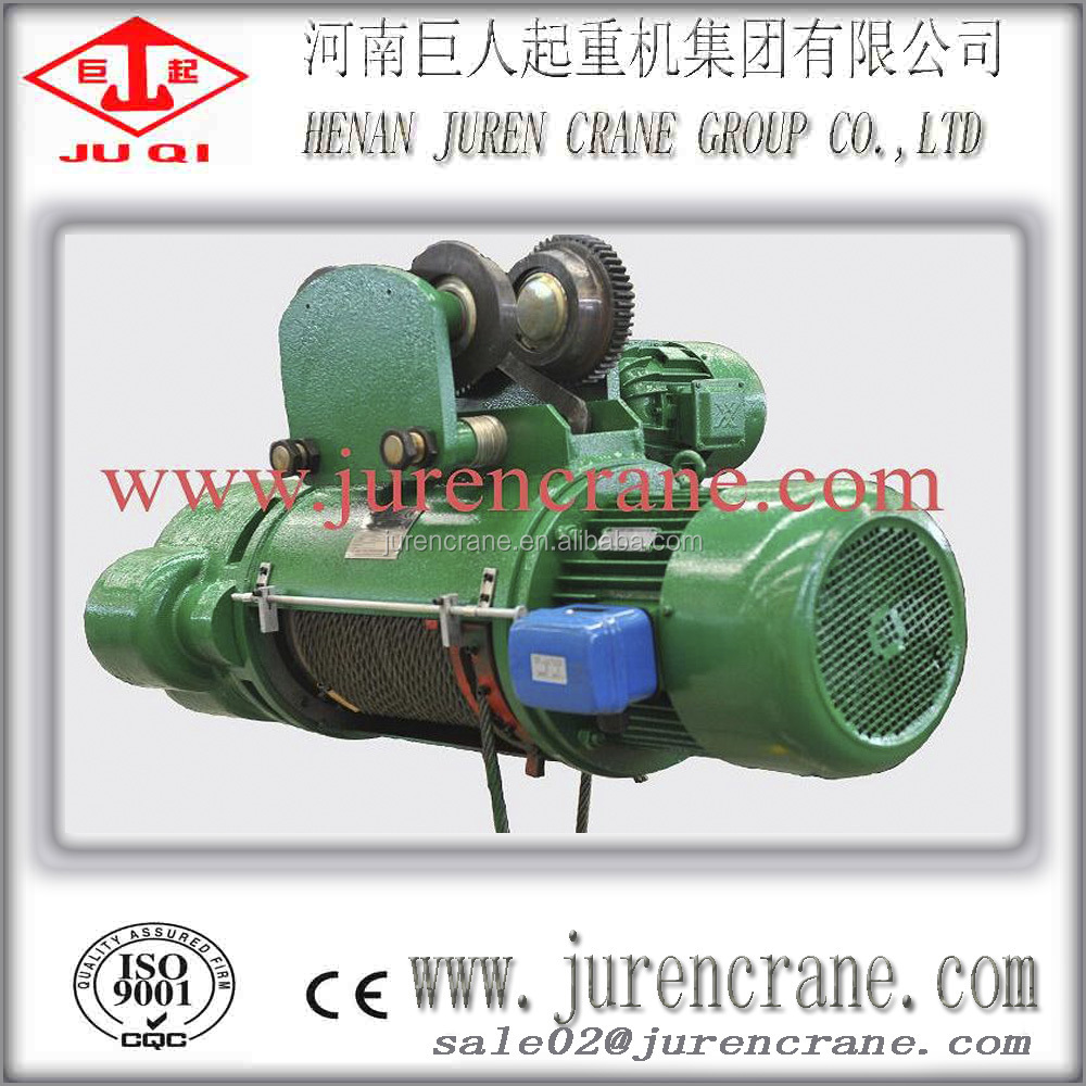 2t wire rope Type and Electric Power Source electric winch hoist,single speed CD hoist