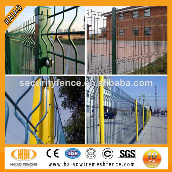 Anping local factory hot sale triangle bending wire mesh fence