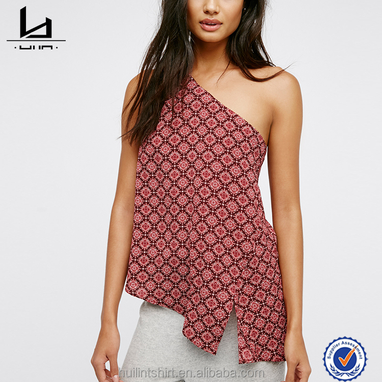 Wholesale clothing best selling high quality sleeveless thailand ladies tops