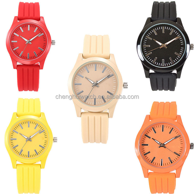 Unisex Jelly Gel Silicone Rubber Band Analog Quartz Wrist Watch