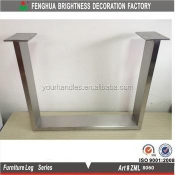 Metal Furniture Cabinet Legs Brushed Steel Tea Table Leg Sofa Feet