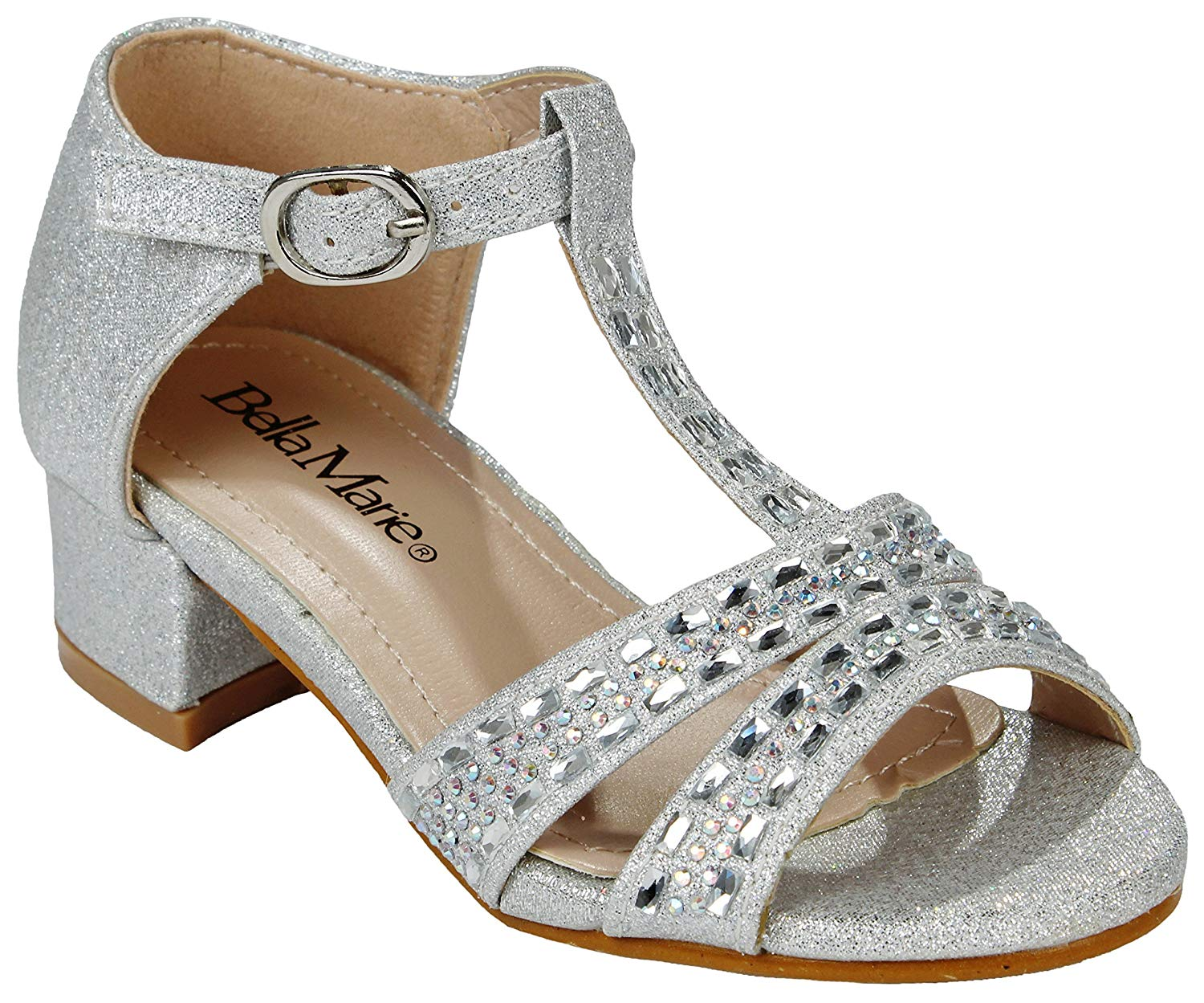 d0e430e21 ... Women Sparkling Crystal Rhinestone Strappy Cut Out Gladiator Flat Dress  Sandals · JJF Shoes Adorababy Ba0050h Kids Girls Sparkling Ankle Strap ...