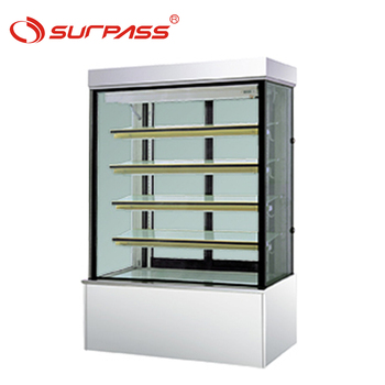 Stable quality 4 Shelves Upright Display Chiller Cake Showcase