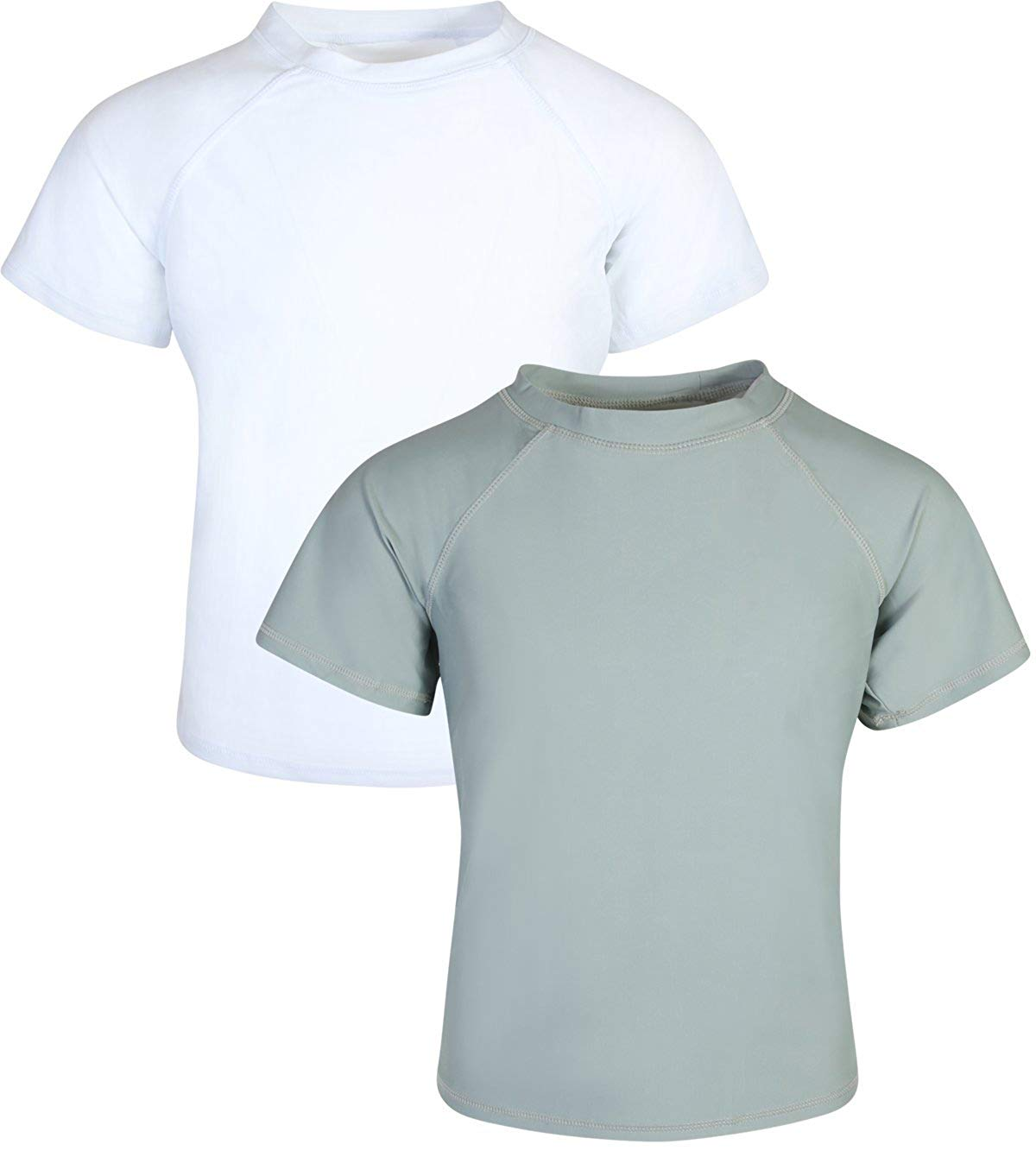 84030bf435 Get Quotations · Ingear Swim Boy's Short Sleeve Rash Guard UPF 50+ Shirt (2  Pack)
