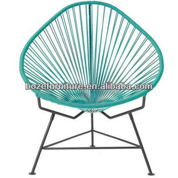 Stylish Acapulco Chair, PE Rattan String Outdoor Lounge Seating