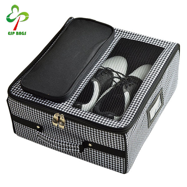 Portable convenient in car shoe organizer, 600D polyester shoe storage box