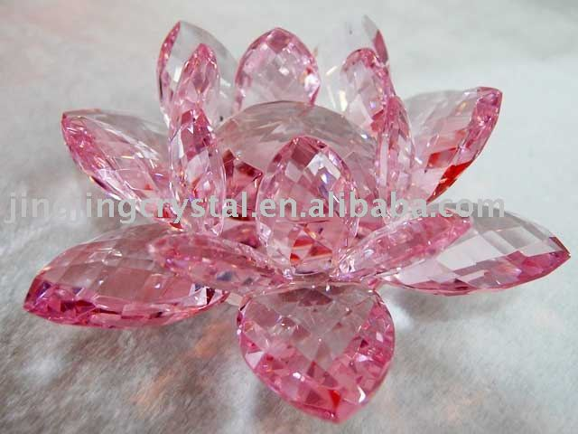 Beautiful Crystal Lotus Crystal Pink Lotus