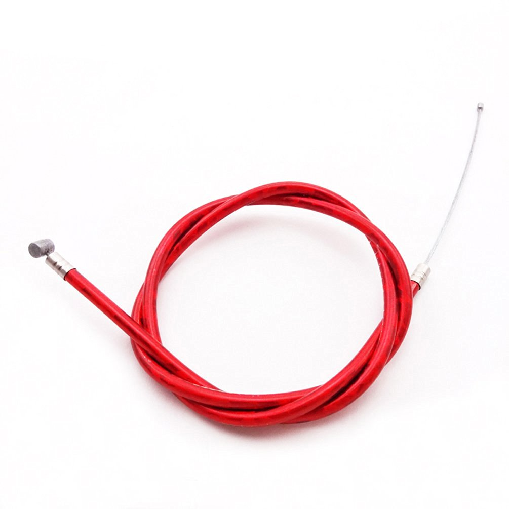 Buy XLJOY Red Gas Throttle Cable For 2 Stroke 43cc 47c 49cc Engine ...