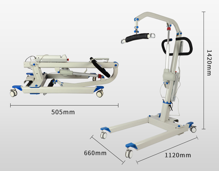RPM20002 High quality lightweight Electric Patient Transfer Lift with power Foldable Hoist