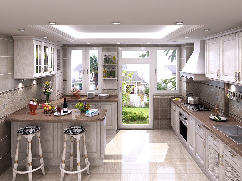 Stylish Kitchen Ready Made Design Wood Kitchen Cabinets ...